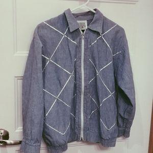 89. vintage chambray bomber jacket